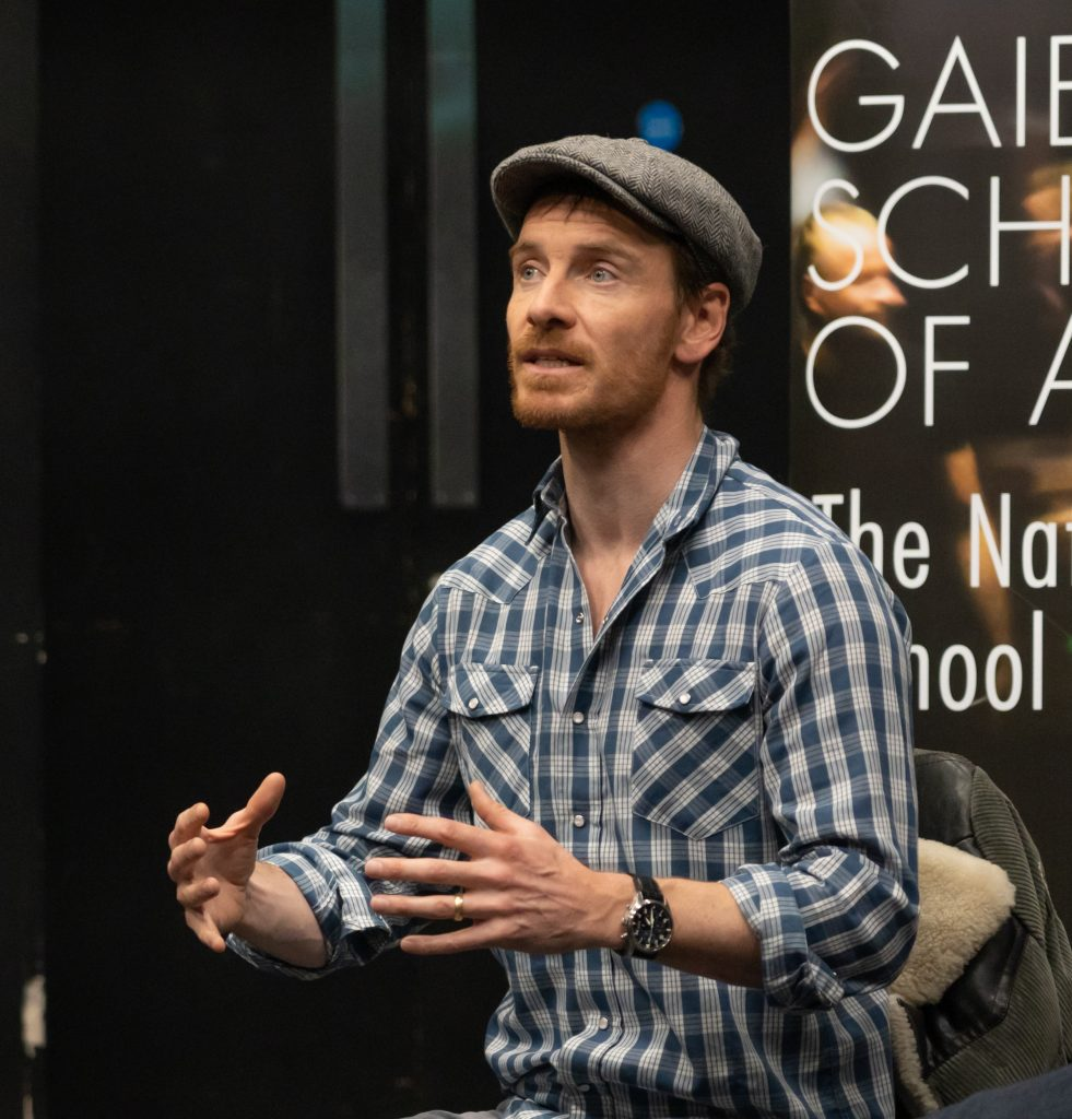 Fassbender visits Gaiety School of Acting
