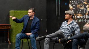 Donal Courtney and Michael Fassbender
