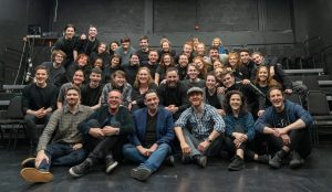 Michael Fassbender with Gaiety School of Acting Students